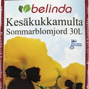 Belinda Kesäkukkamulta on kotimainen kesäkukille soveltuva kasvualusta amppeleihin, parvekelaatikoihin, ruukkuihin