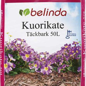 Belinda Kuorikate on kotimainen, männynkaarnasta valmistettu tuote maanparannukseen sekä istutusalueiden, pihojen ja polkujen viimeistelyyn ja rajaamiseen