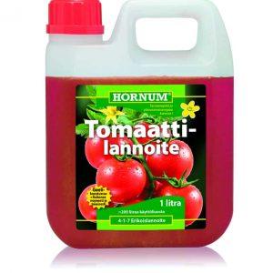 Geelimäinen Hornum Tomaattilannoite soveltuu kaikille hedelmää muodostaville vihanneksille