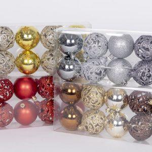 10 kpl paketti kauniita joulukuusen koristeita, 4 väriä