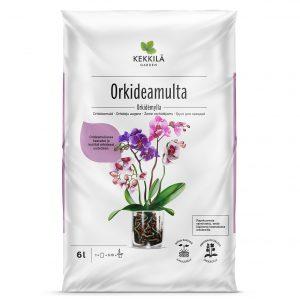 Kekkilän Orkideamulta soveltuu useimmille ruukussa kasvatettaville orkideoille